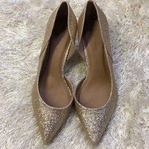 ASOS Gold Glitter Heels